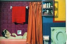 Collage Of The Bathtub - Tom Wesselmann Wallpaper Image