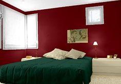 Farbgestaltung Für Ein Schlafzimmer In Den Wandfarben: Rubinrot   Moosgrün    Cashmere