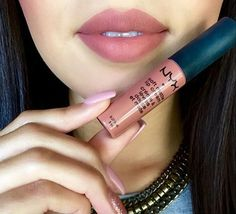 Soft matte lip cream in the shade Stockholm, paired it with NYX lip liner in Mauve.