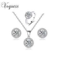 US $8.65     Buy Jewelry At Wholesale Prices!     FREE Shipping Worldwide     Get it here ---> http://jewelry-steals.com/products/2016-voguess-hot-selling-rhinestone-crystal-necklace-earrings-and-rings-wedding-jewelry-sets-fashion-women-accessories/    #bracelets