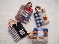 Patchwork Bags, Quilted Bag, Fiber Art Jewelry, Barbie Miniatures, Mini Messenger Bag, Key Bag, Miniature Quilts, Linen Bag, Bag Patterns To Sew