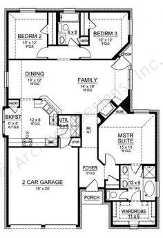 Cedar Crest House Plan First Floor Plan