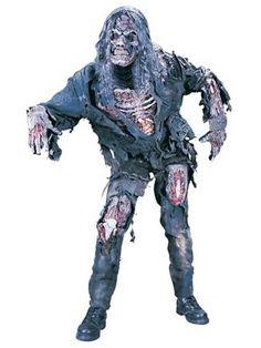 Mens Complete 3-d Zombie Costume