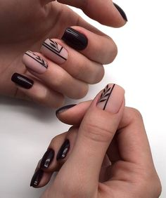 65 Cute Short Acrylic Square Nails Ideas For Summer Nails These trendy Nails ideas would gain you amazing compliments. Check out our gallery for more ideas these are trendy this year. Square Nail Designs, Black Nail Designs, Short Nail Designs, Nail Art Designs, Black Nail Art, Fall Nail Art, Trendy Nails, Cute Nails, Gel Nails