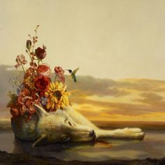 Martin Wittfooth, Fall/Advent, x Oil on canvas, 2012 -- Collection of The Joy Formidable. Album Art, Animal Art, Painting, Juxtapoz, Surrealism, Art, Surrealism Painting, Animal Paintings, Martin Wittfooth