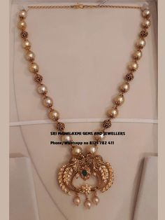 Best designs of Ram parivar harams made in minimum wt n perfect finish. Long haaram with Ram Parivar kasu hangings. Long haaram with matching jumkhis. Visit for full range at wholesale prices. Contact no 8125 782 411 . Pearl Necklace Designs, Jewelry Design Earrings, Bead Jewellery, India Jewelry, Bengali Jewellery, Gold Necklace, Temple Jewellery, Chain Jewelry, Diamond Jewelry