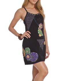 Another great find on #zulily! Black & Gray Embroidered Racerback Dress by Style NY #zulilyfinds