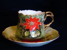 Limited Edition Lefton Poinsettia Hand Painted by SecondWindShop, $19.50