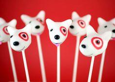 Target's adorable little Bull Terrier mascot in cake pop form.