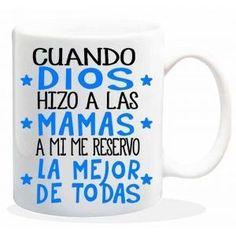 """Taza baggy  """" CUANDO DIOS HIZO A LAS MAMAS A MI ME RESERVO LA MEJOR DE TODAS """" http://www.worldmagic.es/tienda/164-baggy"""