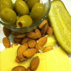 Low carb snack!  Remember to drink your water to help flush out the sodium from pickles and olives!