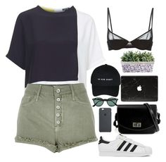 """""""Untitled #2725"""" by wtf-towear ❤ liked on Polyvore featuring Topshop, River Island, Maison Close, adidas and Ray-Ban"""