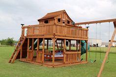 Outdoor Day Bed Swing – Backyard Fun Factory - All For Garden Kids Backyard Playground, Backyard Playset, Backyard Playhouse, Backyard For Kids, Backyard Patio, Playground Ideas, Kids Playhouse Plans, Outdoor Playset, Cedar Playhouse