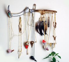 Stunning jewellery hanger hand painted antler by VirginiatheWolf, £65.00