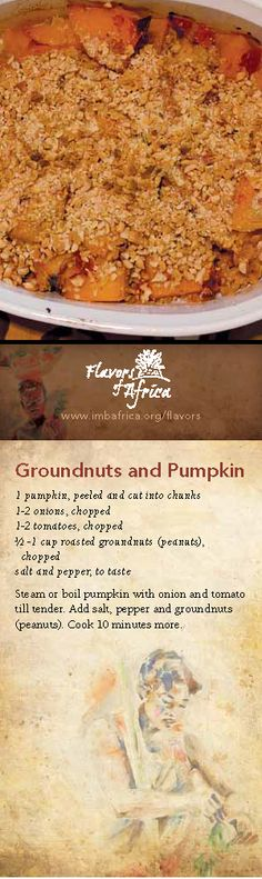 Groundnuts and Pumpkin