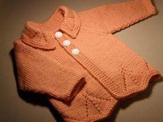 Кофточка с рукавами реглан, связанная снизу (размер 1 год). Часть 3 - Ярмарка Мастеров - ручная работа, handmade