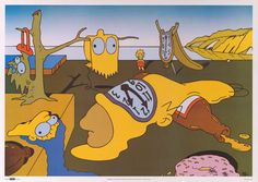 The Simpsons Salvador Dali Parody 1999 Poster 25x35 – BananaRoad