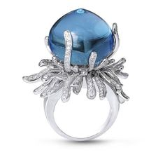 Harry Winston sapphire and diamond ring