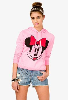 """A French terry lounge hoodie featuring a """"Minnie Mouse™"""" graphic. Minnie Mouse Hoodie, Forever 21 Outfits, Disney Leggings, Girl Outfits, Cute Outfits, Fandom Fashion, Fashion 101, Disney Fashion, My Outfit"""