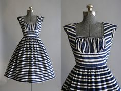 RESERVED... Vintage 1950s Dress / 50s Cotton by TuesdayRoseVintage
