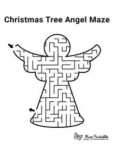 Christmas Jokes For Kids, Christmas Maze, Christmas Tree Angel, Christmas Activities For Kids, Free Christmas Printables, Christmas Books, Preschool Activities, Christmas Crafts, Xmas
