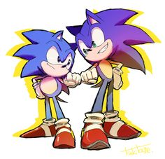 classic and modern sonic Sonic The Hedgehog, The Sonic, Hedgehog Art, Sonic Generations, Classic Sonic, Sonic Fan Art, Foto Instagram, Pin Art, Freedom Fighters