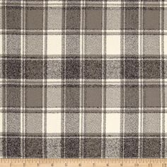 Kaufman Mammoth Flannel Plaids Iron from @fabricdotcom  Designed for Robert Kaufman Fabrics, this soft double napped (brushed on both sides) medium weight (6.4 oz per square yard) flannel is perfect for shirts, loungewear and more! Features a yarn dyed plaid of grey and cream. Remember to allow extra yardage for pattern matching.