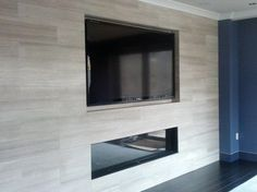 Fitting your TV inside a wall gives your room a sleek look. #InteriorDesign