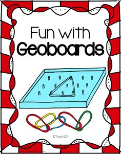 FREE Fun with Geoboards ~ High interest and fun for the end of the school year or anytime of the year! Math Classroom, Kindergarten Math, Teaching Math, Classroom Ideas, Teaching Ideas, Math Stations, Math Centers, Learning Centers, Math Resources