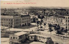 MURICA.- RIO SEGURA Y PLANO DE SAN FRANCISCO (Postales - España - Murcia Antigua (hasta 1.939))