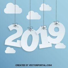 Happy New Year 2019 vector poster Free Vector Images, Vector Free, 5th Grade Graduation, New Years Poster, Graphic Projects, Happy New Year 2019, New Year Celebration, Vector Background, Christmas Wishes