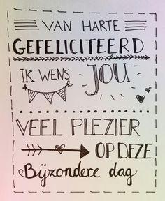 Handlettering by Wiek - Van harte gefeliciteerd