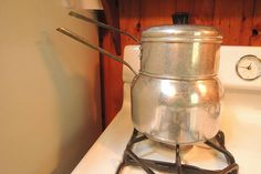 Lg 9 cup WearEver double boiler 3 piece very nice condition