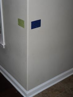 Textured Braille Wall Tags. Cute video of a girl using them in her home.