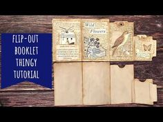 Flip-Out Booklet Tutorial/Comparison with Gi Kerr's Booklet/Journal Flip. Journal Covers, Book Journal, Bookbinding Tutorial, Scrapbook Designs, Scrapbooking Ideas, Flip Out, Paper Book, Handmade Journals, Space Crafts