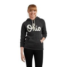 Keep warm with this classic sweatshirt from HOMAGE. The vintage Ohio hoodie is the perfect garment for cool fall days or gamedays on the couch.