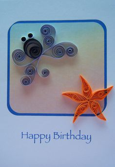Quilled octopus and starfish by Philippa Reid, via Flickr