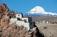 Click to enlarge -  Mount Kailash close up with Chiu Gompa.