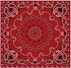 Paisley bandana vermelha coração padrão vector