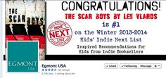 Congratulatory Facebook banner for Len Vlahos' The Scar Boys. TSB was the #1 pick by independent booksellers across the country.