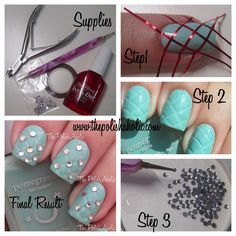 Nail Art Tutorial. Love this idea but I would do sliver polish.