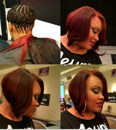 Beautiful sew in bob! Think I want to change my hair color to this. ~crn~