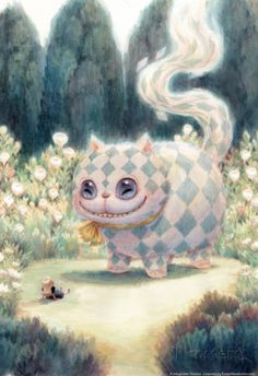 Kei Acedera conceptual artist for Tim Burton's Alice in Wonderland. Cheshire cat and little Alice print I just bought! Illustrations, Illustration Art, Halloween Illustration, Chesire Cat, Cheshire Cat Drawing, Arte Obscura, Alice Madness, Arte Sketchbook, Lewis Carroll