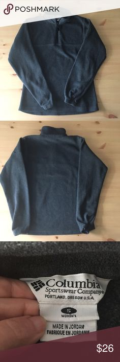 COLUMBIA gray fleece jacket Gray fleece Columbia jacket. In excellent condition. Size small. I'm a speedy shipper and we have a smoke free home! Measurements upon request. I'm always open to reasonable offers. Columbia Jackets & Coats