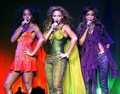 Kelly Rowland, Beyonce Knowles and Michelle Williams of Destiny's Child