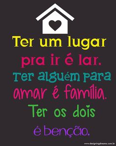 Poster Grátis para Baixar - Cantinho do blog Motivational Quotes For Working Out, Family Love, Sentences, Love You, Positivity, Wisdom, Messages, Lettering, Thoughts