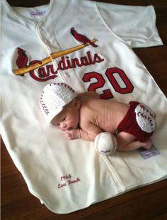 Sleeping on dads baseball jersey