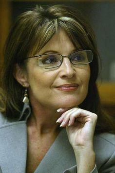 Sarah Palin Photo With Medium Hair And Long Side Bangs