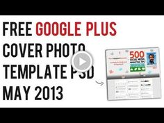 Google+ (Plus) Cover Photo Template PSD May 2013 | Photoshop Google+ Template