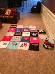 #320-Make a T-shirt Quilt. Because they're awesome!! How cool would it be to get a shirt from everywhere I go and have a quilt at the end?!?! SWEET!